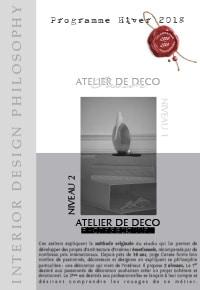 Interior Design Philosophy - Programme des Ateliers Hiver 2018 (PDF)
