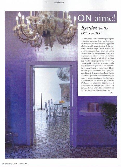 Article paru dans le magazine Espaces Contemporains - page 2