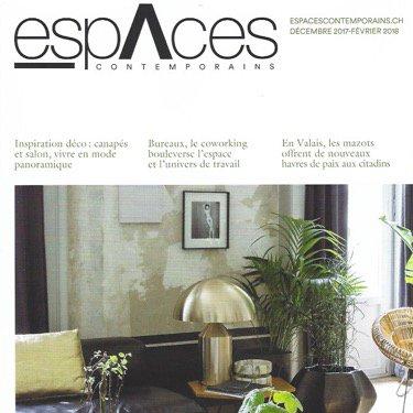 Article paru dans le magazine Espaces Contemporains