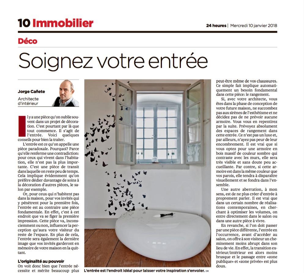 L'Entrée ? C'est fondamental ! Chronique publiée dans la Tribune de Genève