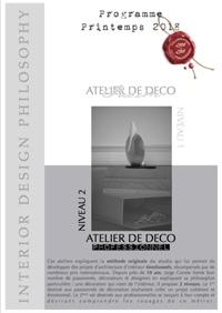 Interior Design Philosophy - Programme des Ateliers Printemps 2018 (PDF)