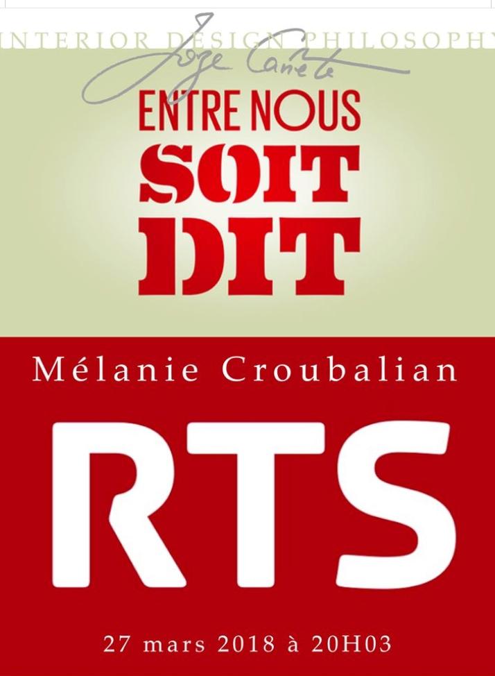 Invité de l'émission radio « Entre nous soit dit » sur RTS