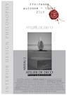 Interior Design Philosophy - Programme des Ateliers Automne - Hiver 2018 (PDF)