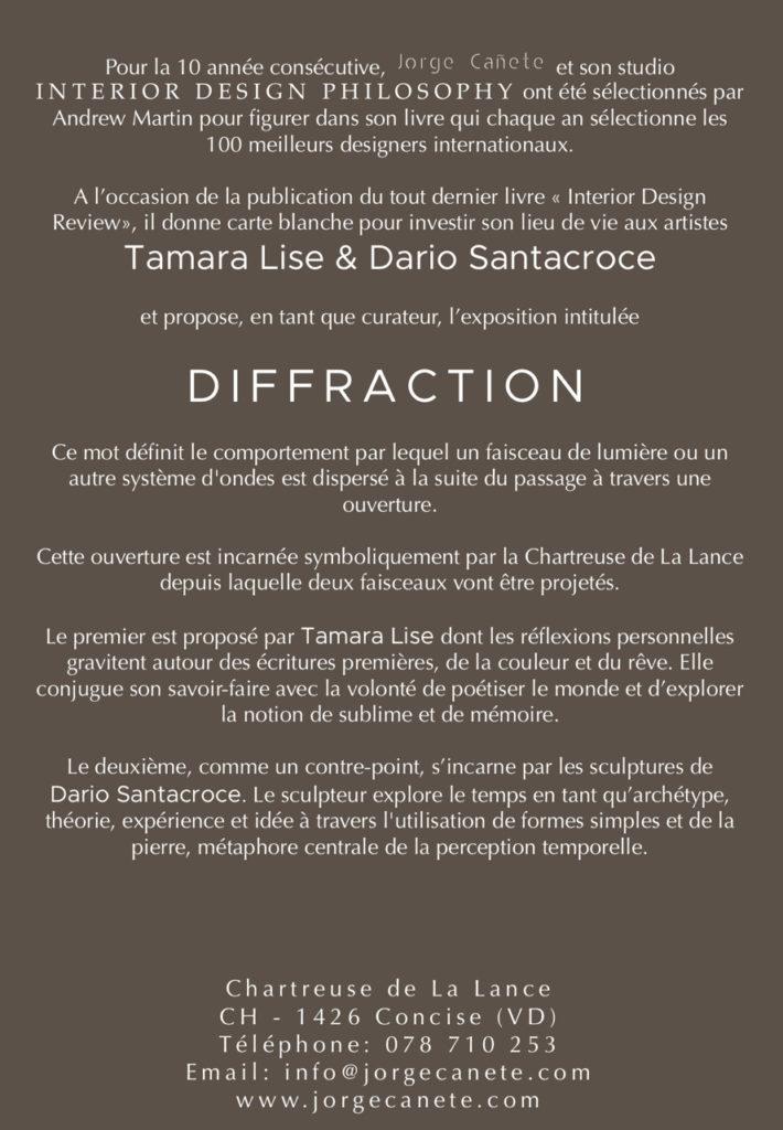 IDP - Carte Blanche - Diffraction detail