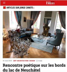 Le magazine Bilan parle des rencontres poétiques à La Lance