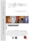 Interior Design Philosophy - Programme des Ateliers - Automne-Hiver 2019 (PDF)