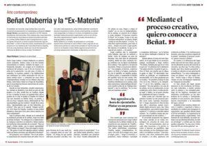 Article sur l'exposition Ex-Materia dans les pages du Mundo Hispanico
