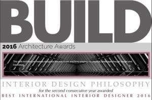 Jorge Canete - Awarded Best International Interior Designer 2016