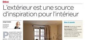 Deuxième chronique déco parue dans La Tribune de Genève et 24Heures - Une
