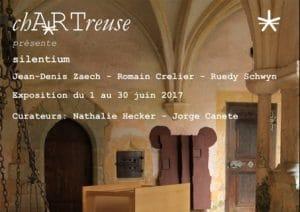Invitation au vernissage de l'exposition Silentium à la ChARTreuse