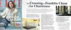 """Le peintre chinois Franklin Chow dans les pages de ELLE pour son exposition à la chARTreuse """"the crossing"""""""