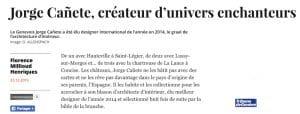 Portrait dans la Tribune de Genève