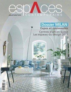 """Le projet à Capri: """"la Dolce Vita en bleu"""" dans le magazine ESPACES CONTEMPORAINS"""